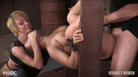 Gabriella Paltrova is back and pain beneath the tying and knob