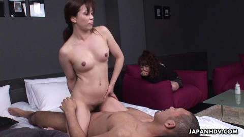 Sakura watches her paramour fuck then acquires into a 3some