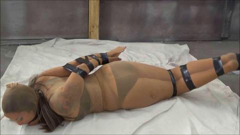 Angel pantyhose bondage