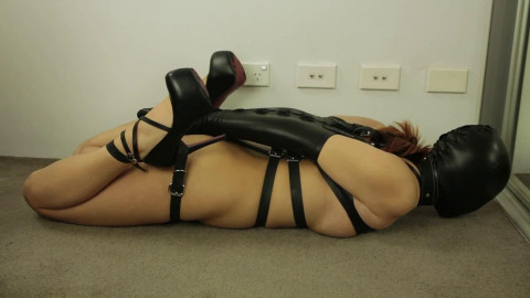 Tight tying, domination and hog tie for very charming doxy HD 1080p