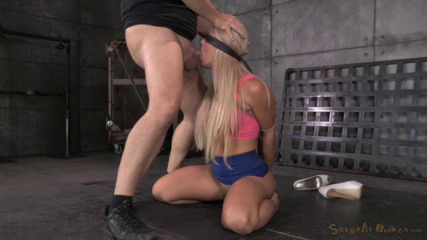 Holly Heart caged, trained for epic deepthroat