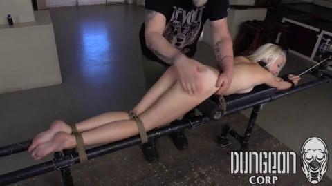 Super restraint bondage, domination and punishment for hawt youthful blond