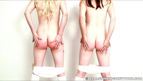 Allison and Roxie Spanked in the Lunge Position