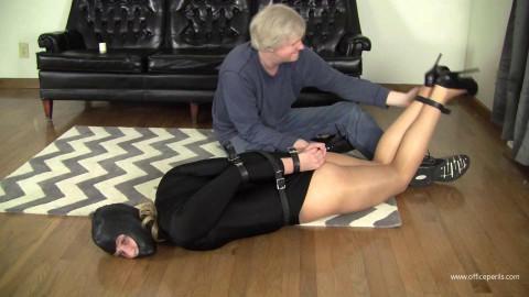 Mia Vallis - Leotard Leather Bound in Six Inch Heels
