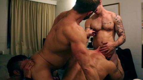 Dirk Caber, Jesse Jackman, Rogan Richards and Skippy Baxter - Motel Muscle 4 Way