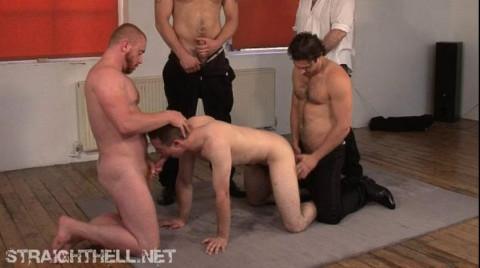Darren - Taken unawares, cuffed and strung up