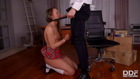 Blue Angel Strict Principles-Naughty Schoolgirl Spanked And Fuck