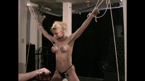 A fresh Fan Fotoshoot Tit Torture Lesson for Titslave Eva