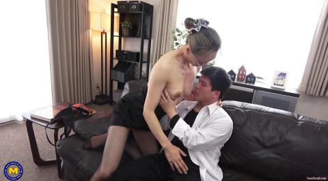 Creampieing my Japanese large nippled principal