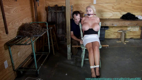 Perverted Couple Bind and Objectify the Busty Blonde - Part 1