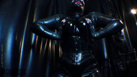 Super bondage and domination for very horny slut in latex