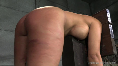 Bondage, spanking and ache for nude dark brown part 2