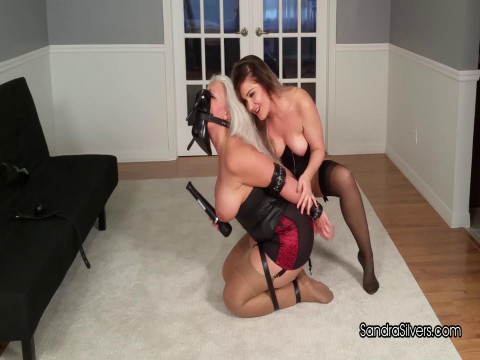Submissive MOTHER ID LIKE TO FUCK Strapped, Shoe-gagged,  by Sexy Mistress!