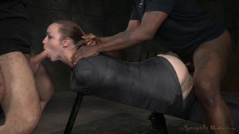 Large Boobed Bella Rossi Roughly Screwed In Inescapable Tying By Bbc!