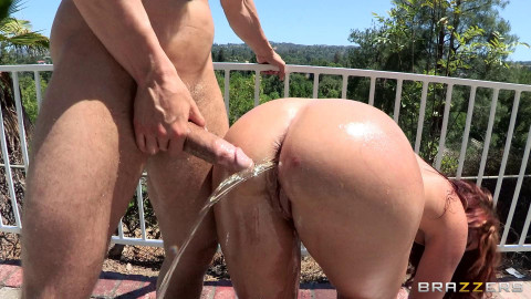 He Oils Her Big Ass and Fucks Her So Deep