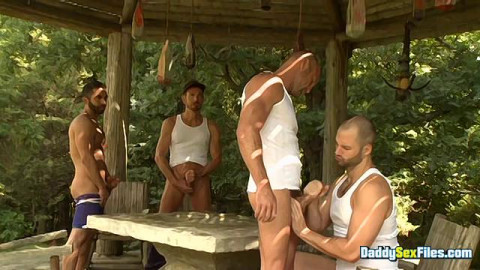 DaddySexFiles - Jack Off Party In The Park