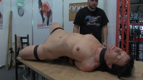 Belt Hogtie Infront Of Live Audience