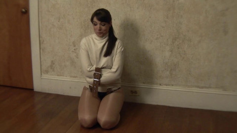 Elizabeth Andrews Straitjacketed In Shiny Pantyhose (2015)