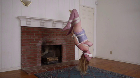 Bound and Gagged -  Strung Up By Her Thighs - Lorelei is Suspended Upside Down