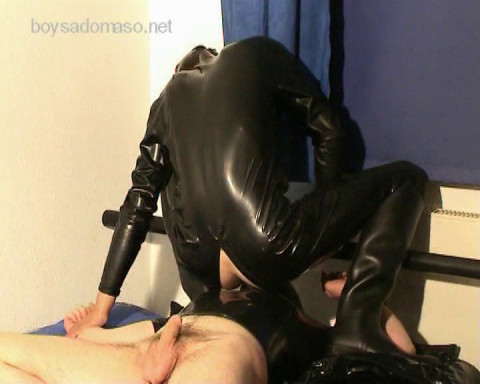 BoySM: Filthy Facesitting by dom juvenile Latex-Top