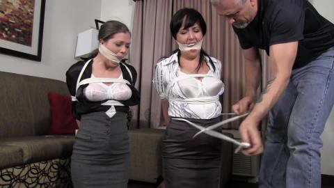 Girls next door restraint bondage - Riley dixie wish tie