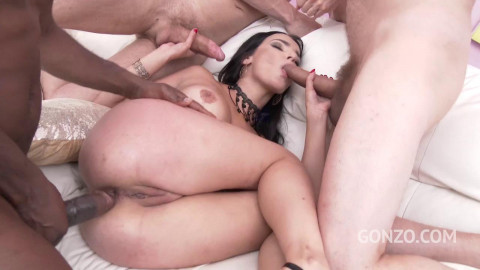 Sophia Laure Loves Hard DP Gangbang
