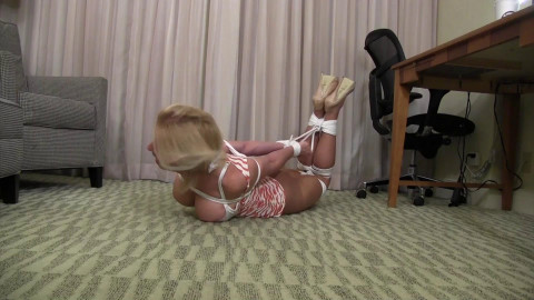 Morina-Big busted MILF Baby Sitter tied up and gagged