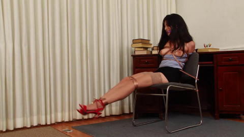 Secretary Phoebe Queen is Bound and Gagged