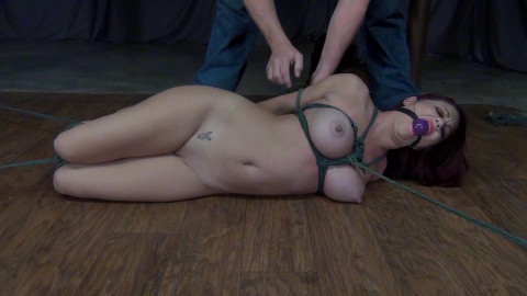 Sarah Brooke: Hogtied on the Floor