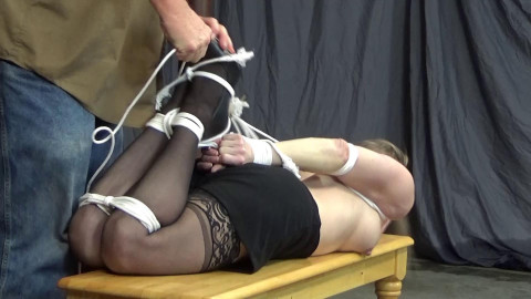 Claire Irons:  Unhappy Hogtie