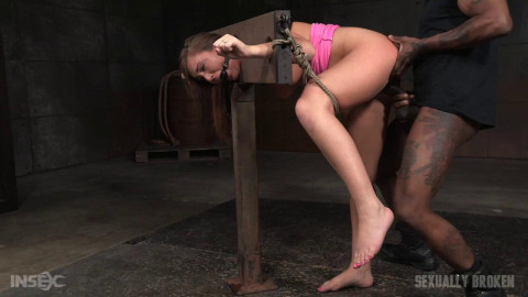 Bound and drooling in strict bondage