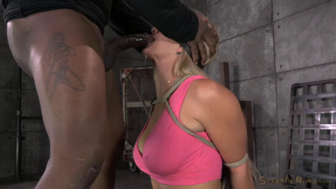Sexy MILF Holly Heart caged