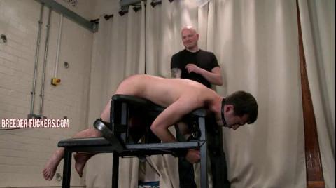 Alex - Discipline bench, bondage, gagged, a-hole strapped