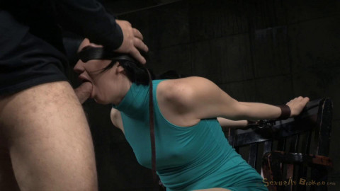 Sexuallybroken - Apr 01, 2015 - Pale all natural Aria Alexander bound and brutally deepthroated