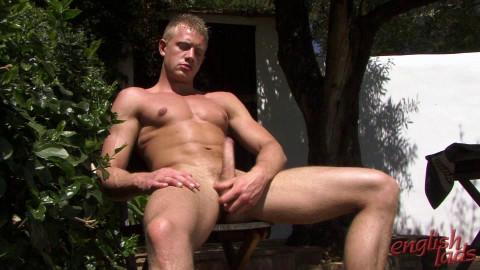 Under The Hot Tropical Sun Str8 Blond Hunk Callum Pumps Up A Big One