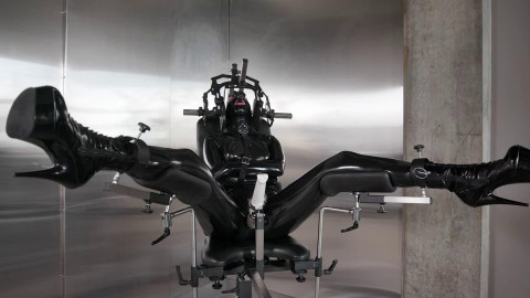 Tight restraint bondage, punishment and domination for hawt gal in latex Full HD 1080