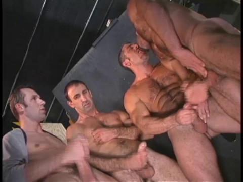 Amazing man-to-man orgy
