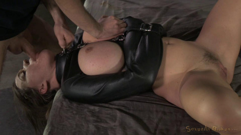 Krissy Lynns booming breasts butt straightjacketed roughly fucked brutal deepthroat! (2015)