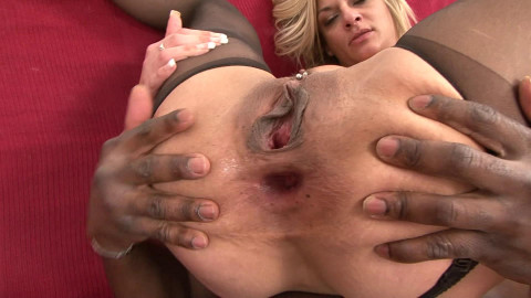 Two dicks shoved deep in her sweet booty