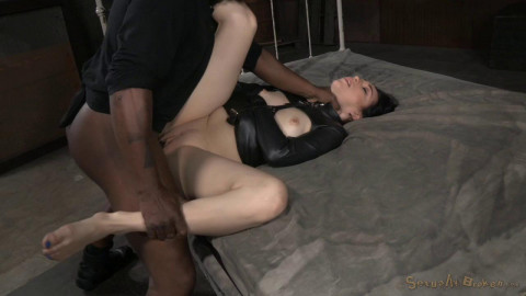 Fresh faced bondage newbie Aria Alexander straightjacketed