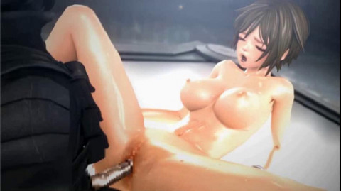 3d Baby with protruding tits fucking