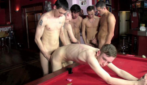 Afternoon gangbang for Jason