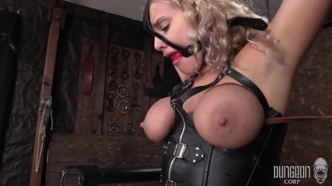 Hard restraint bondage, encasement and punishment for very sexy blond part 1 Full HD