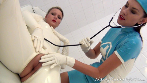 Kinky Rubber Clinic, Finger, Blow-Up Hood, Dildo Part One