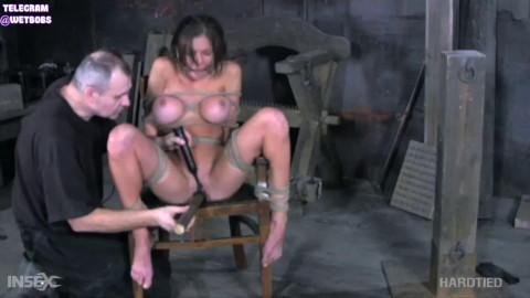 Bondage, spanking and hog tie for undressed brunette hair part 2 Full HD 1080p