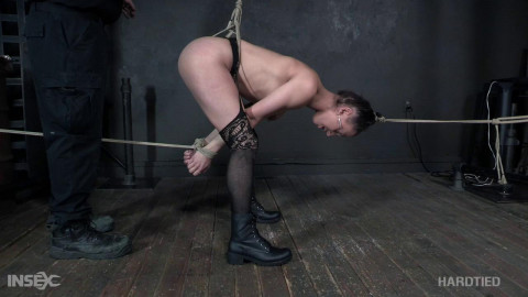 Maria Jade punished animal training bdsm area