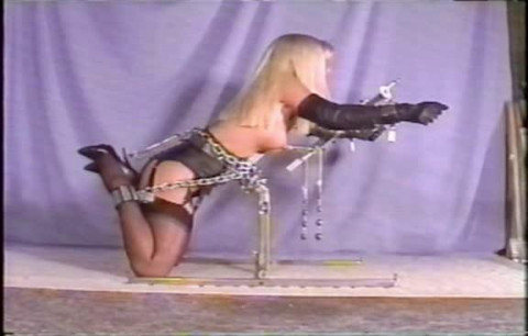 It looks like shes tied not just to suffer bondage