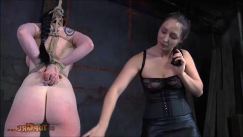 Hard restraint bondage, wrist and ankle bondage, spanking and punishment for nude beauty part1 HD 1080p