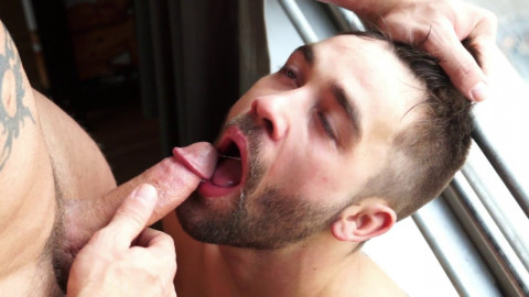 Gay porn guy Austin Wolf ties up and bonks curly otter, Ian Parker