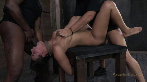 SB - Penny Barber - Amazing Sexy MILF with Booming body, gets her first hardcore bondage threeway!